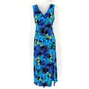 ERIKA Maxi Button Up Sleeveless Floral Dress C01